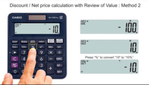 How to calculate a percentage? – Price with Discount / Total Cost * 100