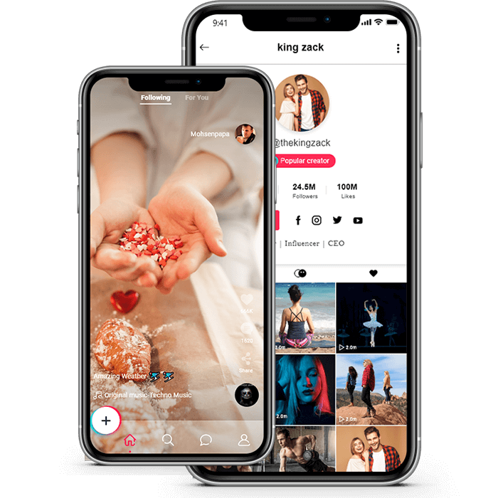 Tiktok app development| Get a world-quality TikTok clone at a fraction of the cost  People with  ...