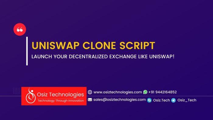 Uniswap Clone script   Uniswap Clone Software   Launch your DeFi Exchange protocol like Uniswap  ...