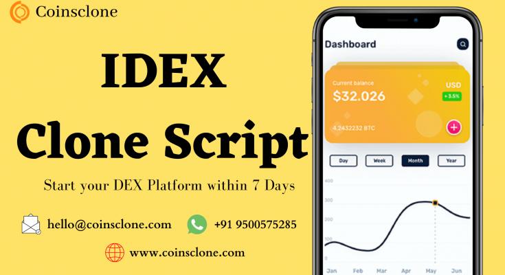IDEX Clone Script – Start a DEX platform like IDEX