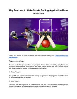 Key Features to Make Sports Betting Application – BR Softech