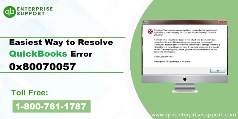 Have you ever stumbled upon QuickBooks error code 80070057 and found it difficult to get out of  ...