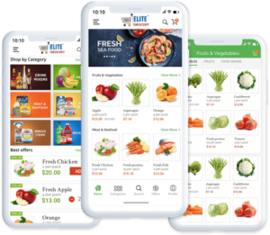 Supermarket Grocery Delivery App – Readymade and Custom – Elite mCommerce Elite mCom ...