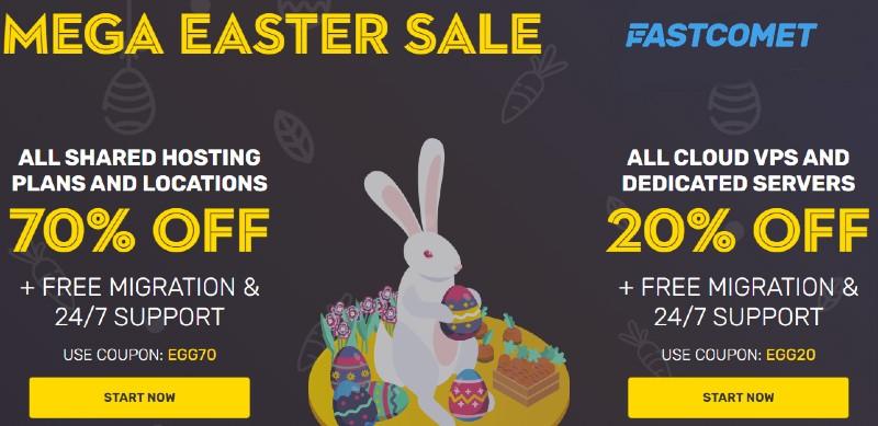 Fastcomet Easter 2021 SALE – Upto 70% OFF (~Best Deal~)