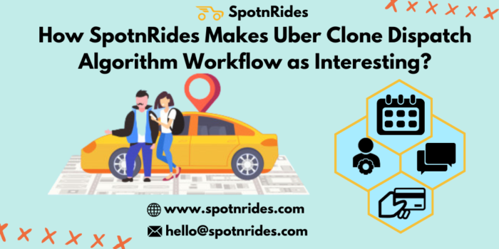 How SpotnRides Makes Uber Clone Dispatch Algorithm Workflow as Interesting?