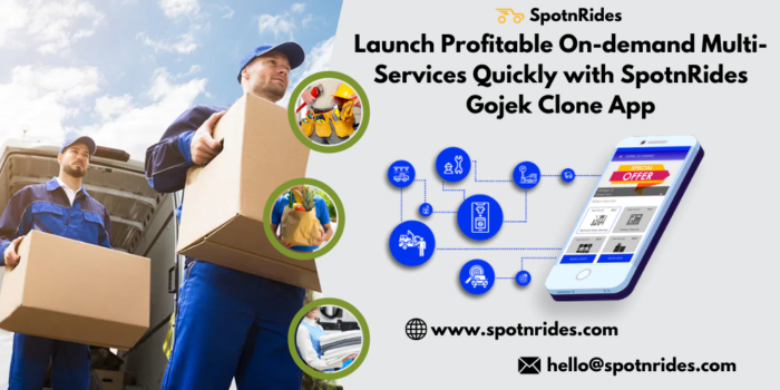 Launch Profitable On-demand Multi-Services Quickly with SpotnRides Gojek Clone App