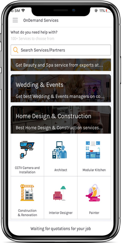 On-Demand App is a one-stop destination for all professional services.