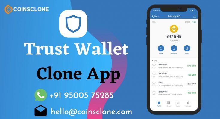 Trust wallet Clone App Development – Launch an Ideal Crypto wallet App Like Trust wallet