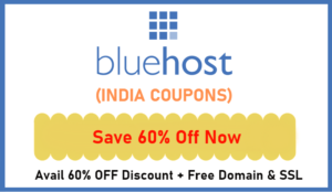 Bluehost India Coupons & Offers 2021 – Upto 60% OFF + Free Domain