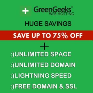 GreenGeeks Spring Sale 2021 (Working Coupons) Upto 75% Off