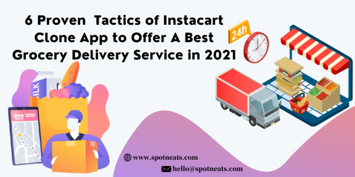 6 Proven Tactics of Instacart Clone App to Offer A Best Grocery Delivery Service in 2021