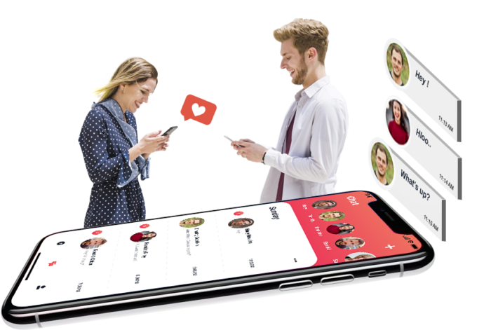 A working process of an online dating app like Tinder  Tinder, the most popular online dating ap ...