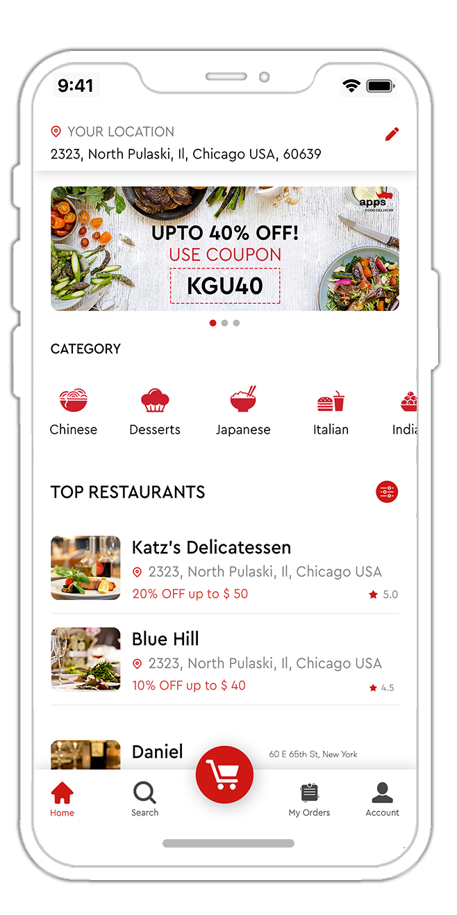 Food Ordering and Delivering app like Ubereats  Looking to invest in the food delivery business? ...