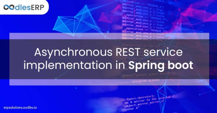 Asynchronous REST service implementation in Spring boot