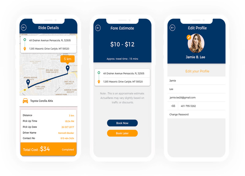 Uplift your venture by developing a white-label taxi app packed with exciting features