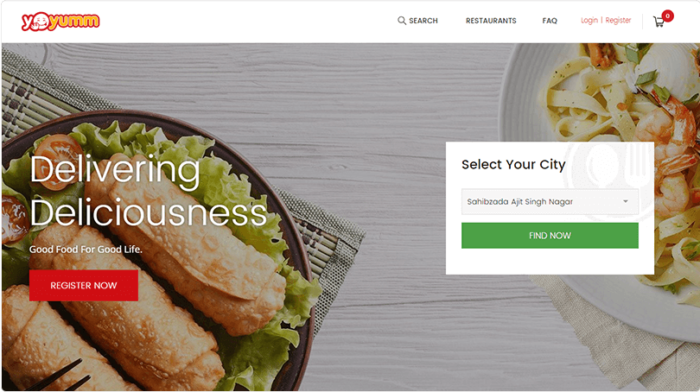 Online Food Delivery Mobile App Solution – Yo!Yumm