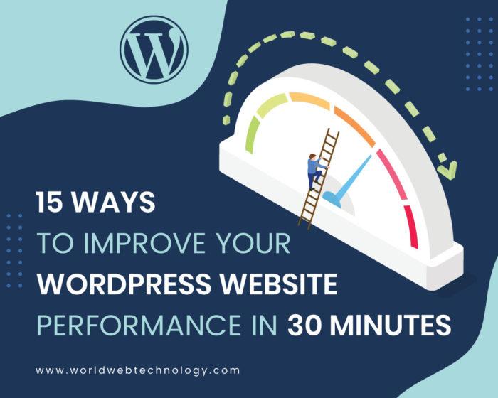 15 Ways to Improve Your WordPress Website Performance in 30 minutes