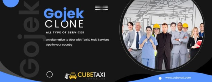 Gojek Clone App – An alternative to Uber with Taxi & Multi Services App in your country