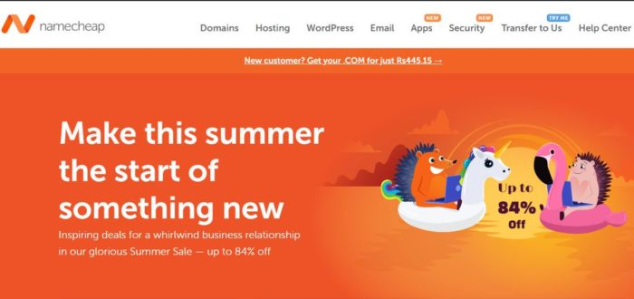 Namecheap Summer Sale on Domains, Web Hosting & Security