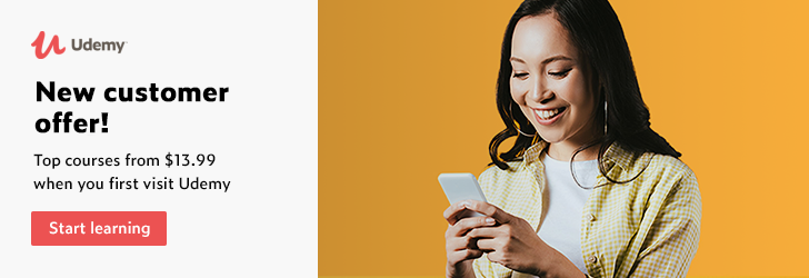 🧑💻 UDEMY SPECIAL OFFERS FOR NEW CUSTOMER 🎁     Check out our latest Udemy offers and get starte ...