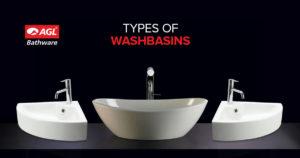 Types of Washbasins in India | Washbasin Designs | AGL Bathware