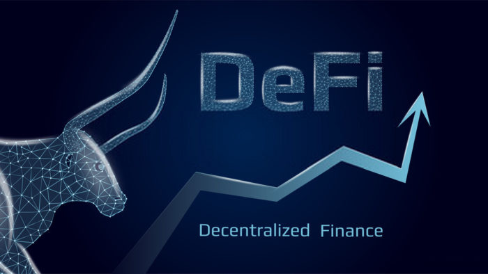 DeFi Blockchain-based finance that doesn't depend on central financial authority such as b ...