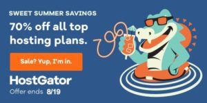 HostGator Summer Sale 2021 – 70% OFF + Free Domain Name