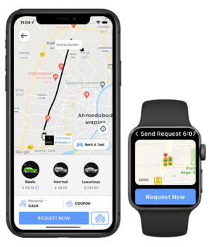 Taxi Booking Now Made Easy with Apple Watch App