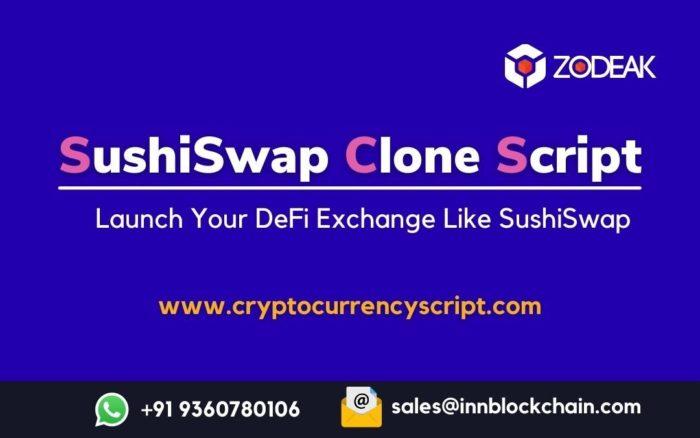 Sushiswap Clone Script   Create DeFi Protocol like Sushiswap   Zodeak