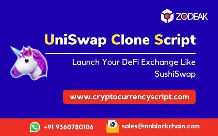 Uniswap Clone Script | Uniswap DEX Clone Software | Zodeak