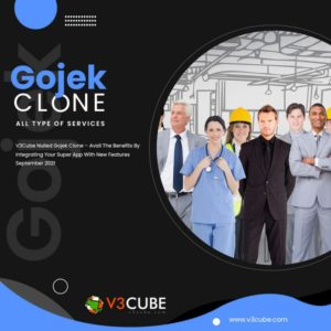 V3Cube Nulled Gojek Clone New Features September 2021 Earns You Profitable Benefits